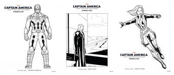 Fun Coloring Sheets Featuring Captain America The Winter Soldier