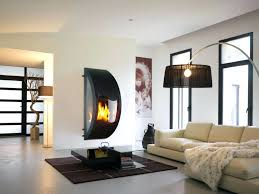 double sided gas fireplace s unusual solution