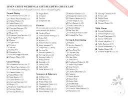 wedding registry list. everything wedding checklist Goalgoodwinmetalsco