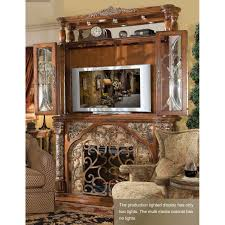 Michael Amini Living Room Furniture Michael Amini Villa Valencia Electric Fireplace W Media Wall By