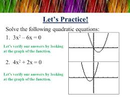 let s practice solve the following quadratic equations 3x2 6x 0