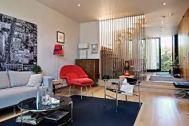 room divider for the modern living space crafted from wooden slats is a popular choice