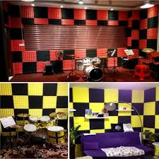 pyramid acoustic wedge studio soundproofing foam wall tiles