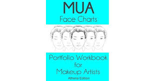 mua face charts portfolio workbook for makeup artists athena edition by sarie smith