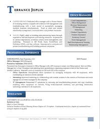 sample of manager resume converza co