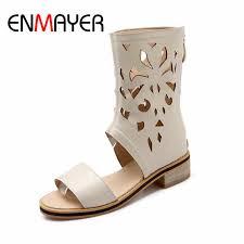 <b>ENMAYER</b> LargeSize 34 47 New <b>Fashion Women's</b> Gladiator Knee ...