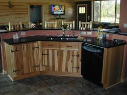 Hickory Kitchen Hickory Kitchen Cabinets Style All Home Ideas Rustic Hickory