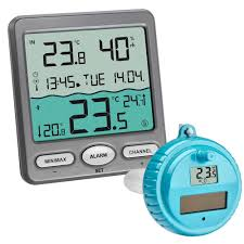 wireless pool pond water thermometer with outdoor sensor