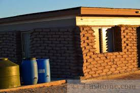 Small Picture Simple Earthbag House Design Cheap Green Building Idea for Desert