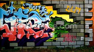 breach the wall of graffiti wallpaper