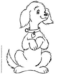 Small Picture Dog Coloring Pages Printable cute pet dog coloring page sheet