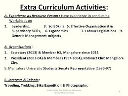 Student Activity Resume Template Activities Resume For College