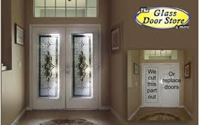 metal front doorWant glass door inserts installed in your front door