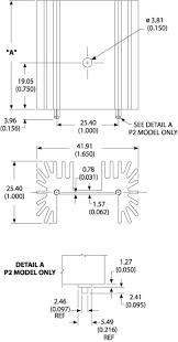 6399b p2g board level heatsinks standard heatsink