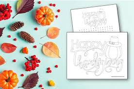 These thanksgiving coloring pages can be printed off in minutes, making them a quick activity that the kids can have fun with in the weeks before thanksgiving or even the minutes before dinner is. Happy Thanksgiving Coloring Pages Made With Happy