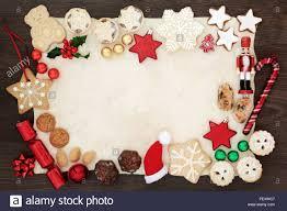 Weihnachten Hintergrund Grenze Mit Festlichen Symbole Von