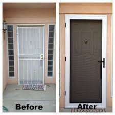 guarda security screen door before