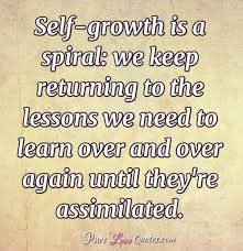 Self Growth Quotes Extraordinary Selfgrowth Is A Spiral We Keep Returning To The Lessons We Need To