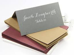 Folded Place Cards Folded Place Cards Your Escort Cards Blank Or Printed