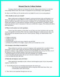 10 Achievements On Resume College Student Resume Letter