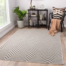 4 x 7 area rug unique juniper home clarion indoor outdoor geometric light gray black
