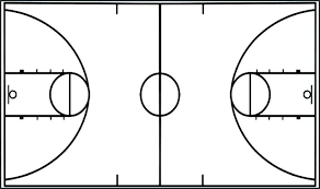 Basketball Template For Plays Court Coloring Pages Marvie Co