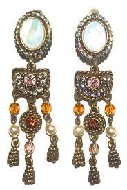 vintage chandelier earrings by poggi of paris