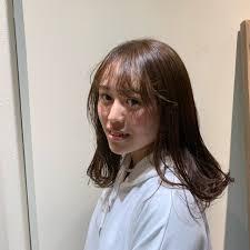 セミロング ヘアアレンジ ナチュラル 前髪アレンジoli 野々村 朋美