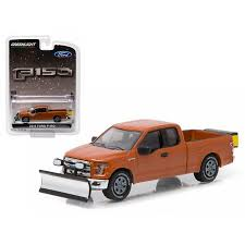 2015 Ford F-150 Snow Plow and Salt Spreader Pickup Truck 1/64 ...