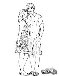 Small Picture Hsm gabriella and troy coloring pages Hellokidscom