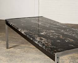 Rare Black Marble And Brushed Steel Coffee Table By Kho Liangh Ie For  Artifort