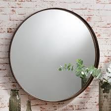 harper medium round metal wall mirror