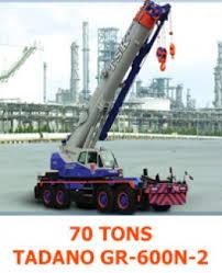 70 Tons Tadano Gr 600n 2 T S K Crane Service Co Ltd