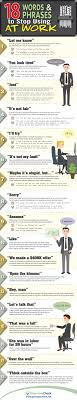 18 Words And Phrases To Stop Using At Work Infographic