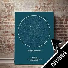 Star Chart Poster Custom Custom Star Map