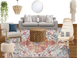the look boho living room e