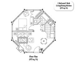 GUEST HOUSE House Plan GH-0101 (475 Sq. Ft.) 1 Bedrooms