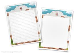 California Missions Writing Template Border Paper School Project