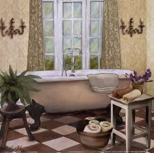 framed french bath i print