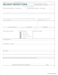 Accident Incident Report Template