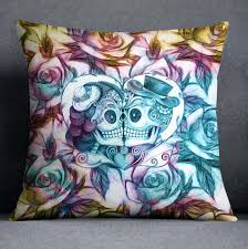 purple and teal bedding purple blue and gold kissing sugar skull couple bedding teal pink purple