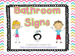 preschool bathroom signs. Bathroom Signs Too! So I\u0027m Sharing Them With You--for FREE On TpT. All You Have To Do Is Click Here Go And Download Preschool