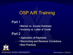 Letter Of Credit Inspiration OSP AR Training Part 44 Banner Vs Access Database Invoicing Vs