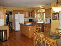 best flooring for kitchen with honey oak cabinets wood floors with honey oak trim ancient marble