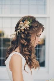 Hairstyle With Flowers Long Wedding Hairstyle With Flowers 2017