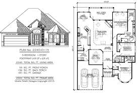1 story 3 bedroom 3 bathroom 1 family room 1 dining area 2 car garage 2240 square feet house plan
