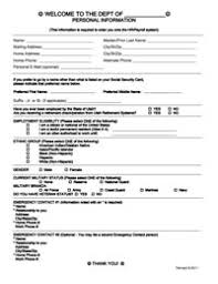 employment information sheet employee personal information form template safety training