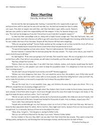 Deer Hunting - Reading Comprehension Worksheet