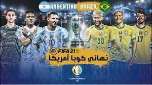 البرازيل ضد الأرجنتين نهائي كوبا أمريكا 2021 🔥😱 Gameplay FIFA 2021 -  YouTube