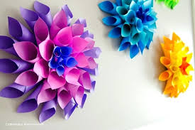 Paper Folded Flower Dahlia Fold Flower Tutorial Kmetijaselisnik Net